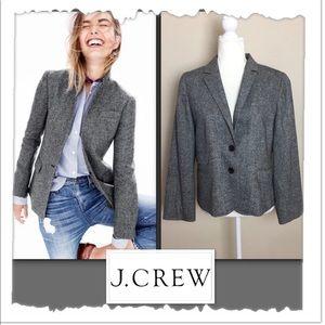 J. Crew Schoolboy Black & White Wool Blazer
